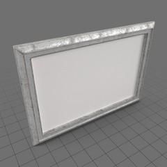 Silver horizontal frame