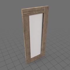 Vertical long frame