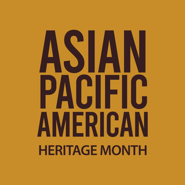 Asian american heritage month vector template