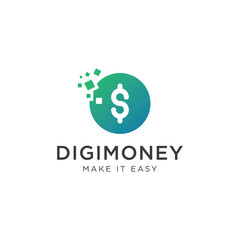 Digital Money Logo - Vector logo template