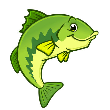 Cartoon Largemouth Bass