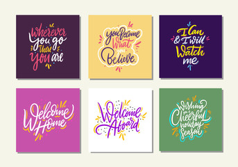 Motivational quote vol 9. Hand drawn vector lettering set.