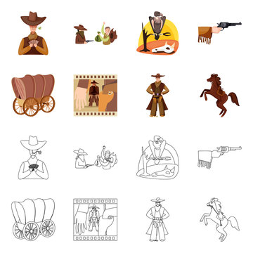 Vector design of texas and history sign. Collection of texas and culture stock vector illustration.