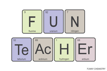 The chemical elements of the periodic table,funny phrase -fun teacher