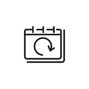 Snooze notification line icon. Time schedule, deadline, flexible date. Notifications concept. Vector illustration can be used for topics like business, time management, strategy