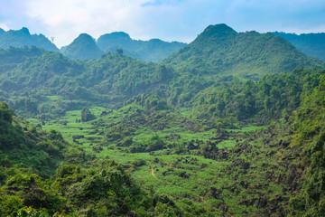 Ha Giang district landscape green hills northern Vietnam