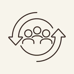 Personnel change line icon