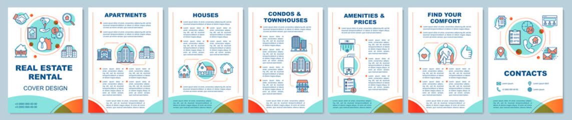 Real estate rental brochure template layout