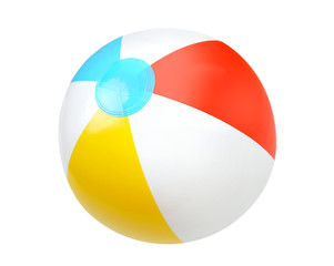 Foto op Plexiglas Bol Summer water beach ball isolated.