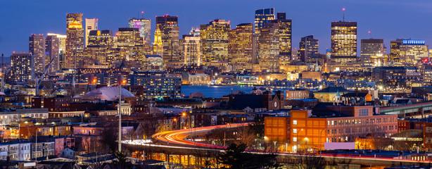 Wall Mural - Boston Cityscape Panorama