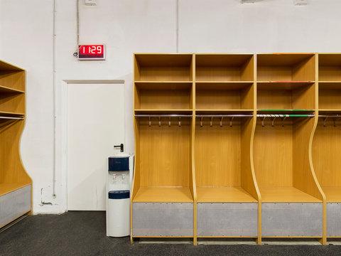 an empty locker room in the sports club, school, section