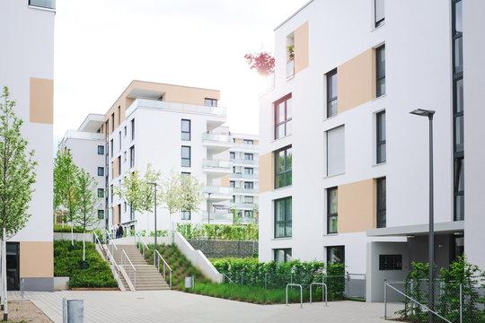 Immobilien in einem Wohngebiet