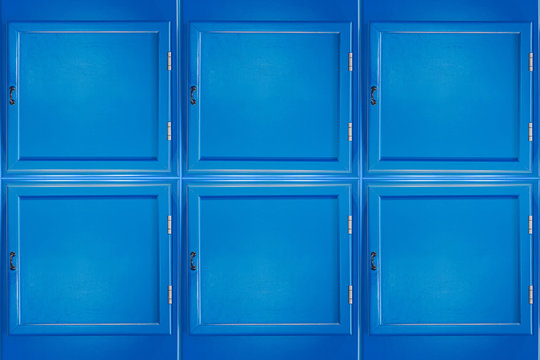 Blue small cabinet doors