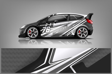 Rally car wrap vector designs. abstract livery for vehicle vinyl branding background. Wall mural