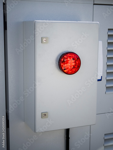 Intruder siren on security box  Installed and connected to