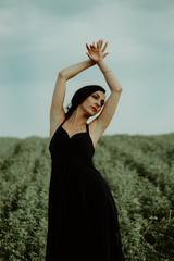 Dreamy portrait of a professional female dancer