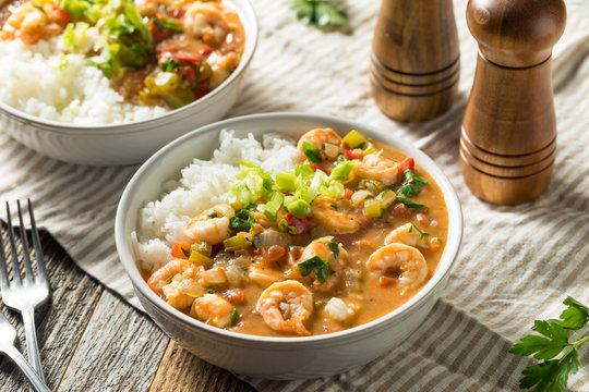 Spicy Homemade Cajun Shrimp Etouffee