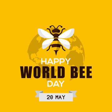World Bee Day Vector Design Template