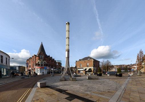The town centre of Blackburn, Lancashire, England.