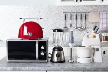 Obraz Home Appliance On Kitchen Worktop - fototapety do salonu