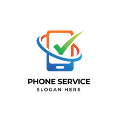 mobile phone repair logo template. phone service icon symbol