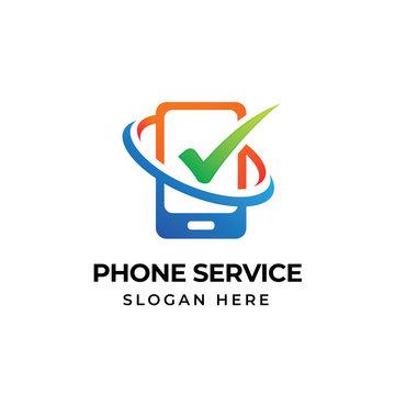 mobile phone repair logo template. phone service icon symbol