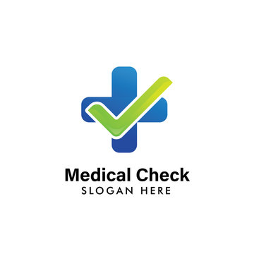 medical check logo template. health logo template design