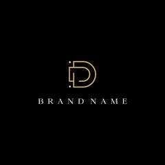 D initial luxury vector logo design