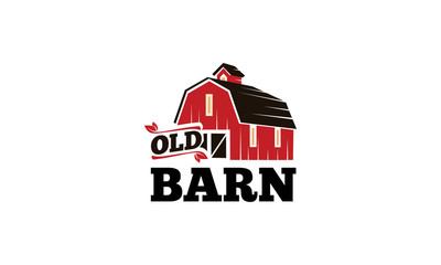 Old Barn V.2 Logo Wall mural
