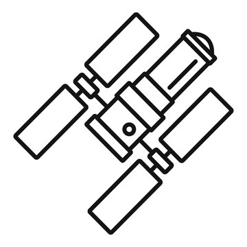 Space station icon. Outline space station vector icon for web design isolated on white background