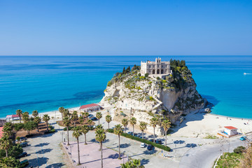 Video of Tropea Town, in Calabria. The sanctuary, the mediterranean sea and the beautiful coast in summer.
