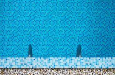 swimming pool in summer season background.