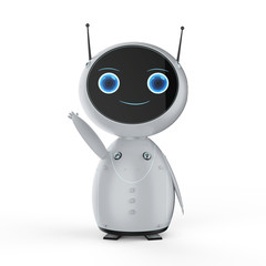 cute artificial intelligence robot