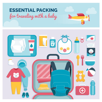 Essential packing for traveling with a baby