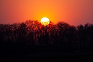 zachód słońca, wschód słońca, słońce, duże słońce, piękny zachód słońca, tapeta,...