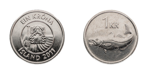 1 Icelandic crown - ISK - from the year 2011