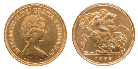 1 Gold Sovereign Royal Mint Elisabeth II from 1982