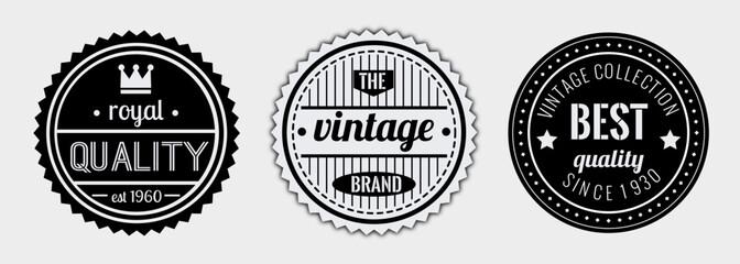 Royal quality vintage badge