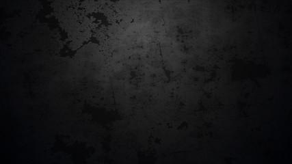 Vector dark concrete texture. Stone wall background. Black background.