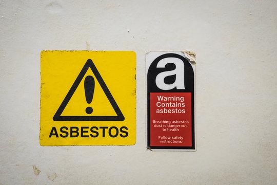 Danger warning in a boiler room.