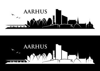 Wall Mural - Aarhus skyline - Denmark