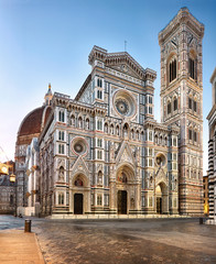 Aluminium Prints Florence Italy. Florence cathedral with Giotto's bell tower