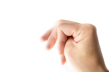 男性の手と指の写真