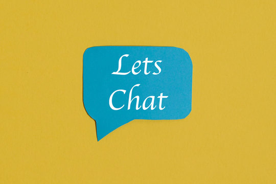 Blue chat speech icon : a symbol and concept for talking and message