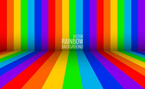 Gay rainbow flag backdrop