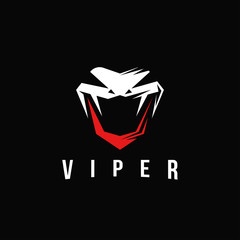 Aggresive powerfull viper snake logo icon inspiration