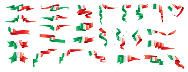 Fototapeta Italy flag, vector illustration on a white background.