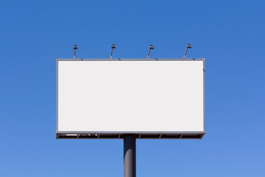 Blank billboard mock up