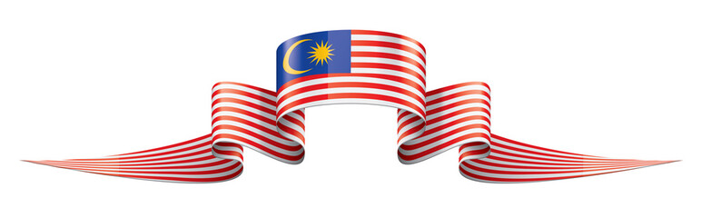 Malaysia flag, vector illustration on a white background. Wall mural