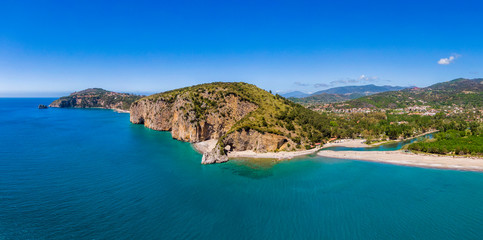 Aerial view of Palinuro coast and natural arch, Italy Fototapete